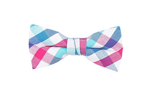 Born to Love - Boys Kids Pre Tied Bowtie Christmas Holiday Party Dress Up Bow Tie (Medium, Multicolored Blues)