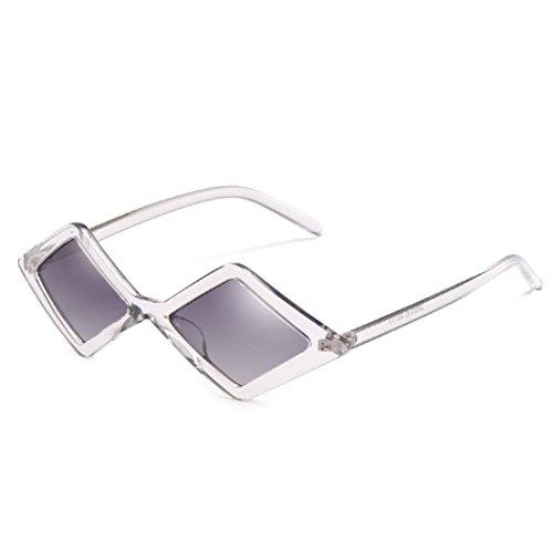 Rétro Femmes Mode de Sunglasses Personnalité Soleil Lunettes Lunette URSING Triangle Cadre Cool Unisexe UV Hommes Intégrées Fashion Nuances Mode Gris Lunettes z5wwqd