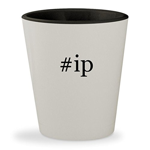 Price comparison product image ip - Hashtag White Outer & Black Inner Ceramic 1.5oz Shot Glass