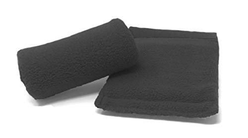 Universal Crutch Hand Grip Covers - Luxurious Soft Fleece with Sculpted Memory Foam Cores (Black) ...
