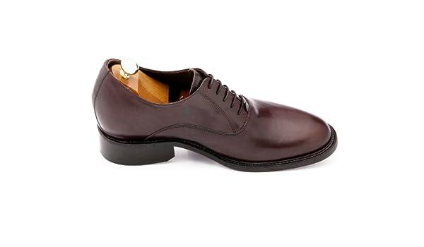 GuidoMaggi Outlet - Mocasines con cordones, elegantes, con alza de 7.5 cm - MARMOLADA - Negro - Talla 43 EU: Amazon.es: Zapatos y complementos