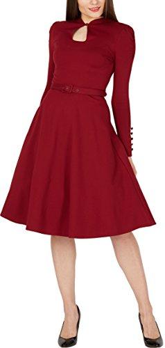 Megan Blackbutterfly » Clarté Cru Pin Up Bourgogne Robe