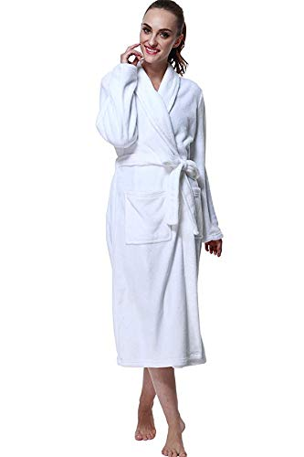 Drowsy Cloud RB001 Bathrobes, Large, White