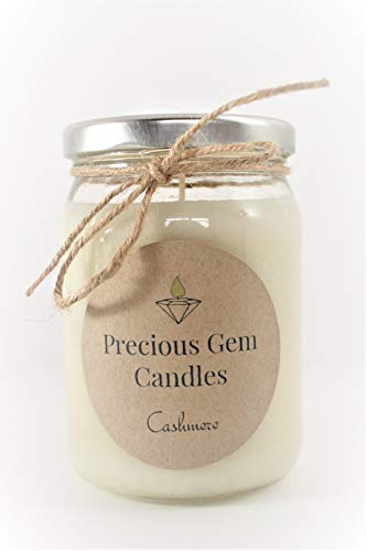 Cashmere - Soy Candle with A Gemstone Inside (Surprise Semi-Precious Faceted Gemstone Valued $10-$5,000) ()