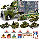 (Big Daddy Army Transport Truck Military Toy Truck with Lights and Sound Emergency Quick Release Effect)