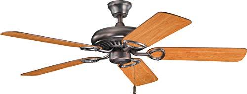 - Kichler 339011OBB 52-Inch Sutter Place Fan, Oil Brushed Bronze