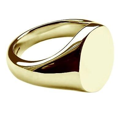 5d1a6d90671a Calidad de talla de oro amarillo de 16 x 13 mm color estampado anillo de  sello