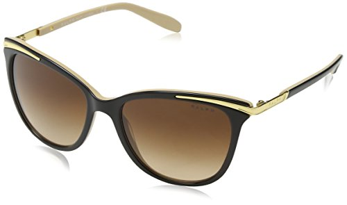 Ralph by Ralph Lauren Women's 0ra5203 Cateye Sunglasses, BLACK NUDE, 54.0 mm (Lauren Sunglasses Ralph)