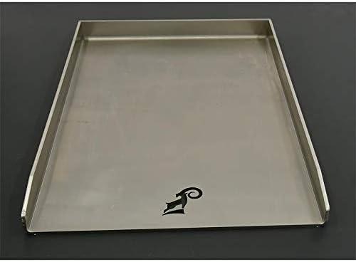 ZIEGER 10007089 - Piastra universale in acciaio INOX, 45 x 34 cm