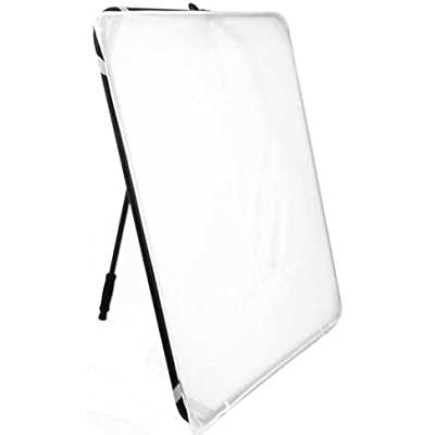 Image of ALZO Easy Frame Diffuser and Reflector Scrim Kit for Photography Lighting, Free-Standing or Hand-Held, 40 Inch Metal Frame with Angle Adjustment Handle, 4 Fabrics Reflectors