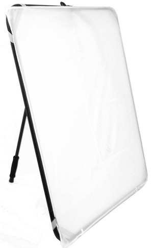 (ALZO Easy Frame Diffuser and Reflector Scrim Kit for Photography Lighting, Free-Standing or Hand-Held, 40 Inch Metal Frame with Angle Adjustment Handle, 4 Fabrics )
