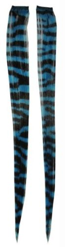 Morris Costumes Hair Extension Turquoise Zebra
