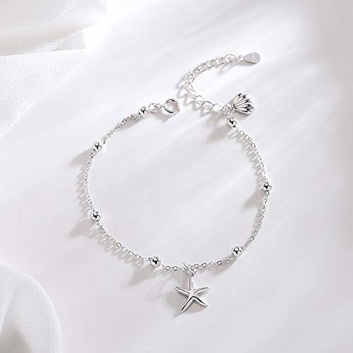 Vintage Shell Starfish 925 Bracelets | Nautical Ocean Seashell Beach Bracelet | Summer Vacation Jewelry for Women