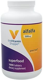 The Vitamin Shoppe Alfalfa 500 MG Natural Green Food Supplement