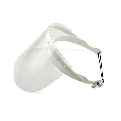 Grinigh Anti-Fog Protective Face Shield Frame with Disposable Protective Plastic Visors (15 count) | For Home, Shop, or Professional Dental - Shop Shield