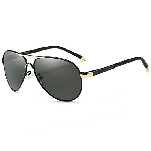 Sol Negro UVA Coloreado Gafas Negro Redondo Aire Reflexivo Gafas Polarizada Libre Protección Protección Luz 100 Conducción Anti De Gafas Color Marco UV Clásico Hombres Solar WYYY De qnExF4OR4