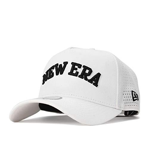 (ニューエラ) NEW ERA ゴルフ キャップ スナップバック 9FORTY A-FRAME LASER PERFORATED ホワイト GOLF FREE (サイズ調整可能)