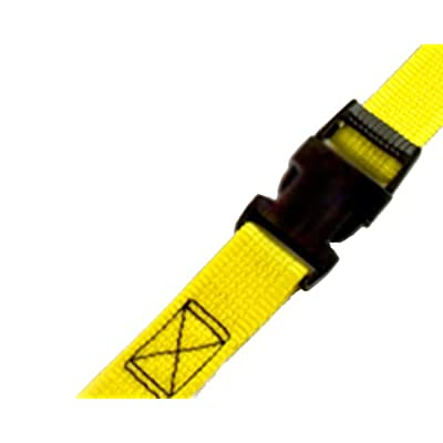 "PROGRIP 502580 Light Duty Cargo Tie Down Lashing Strap with Yellow Webbing: Side Release Buckle, 9' x 1"" (Pack of 2): Automotive"