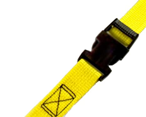 Pack of 4 PROGRIP 502340 Light Duty Cargo Tie Down Lashing Strap with Yellow Webbing: Gutter Hook Ending 30 x 1 Pack of 4 30 x 1