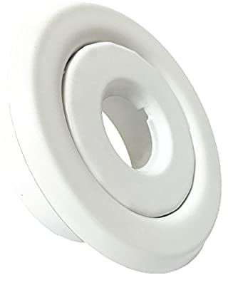 """Happy Tree (10 Pack) 1/2"""" IPS Fire Sprinkler Head Escutcheon Plate Trim Ring Standard Recessed Cover Two Piece Rosette White"""