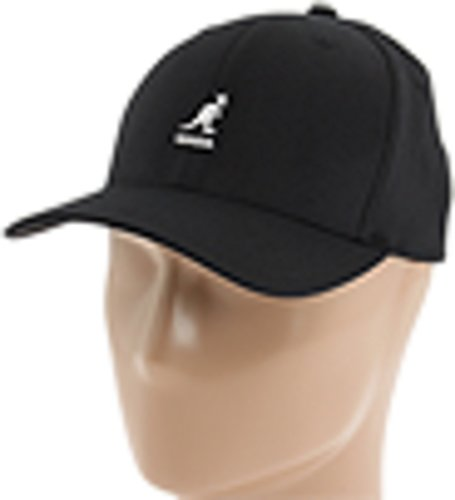 Kangol Men's Wool Flexfit Baseball Hat, Black, Small/Medium