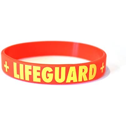 Komonee Lifeguard Red Silicone Wristbands Pack 25 Estimated Price £14.99 -