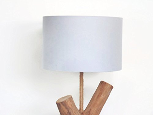 Pantalla de lámpara gris claro cilindros - redondo - cilíndrico - cilindro - idea de regalo cumpleaños - hecho a mano - lámpara de techo - lámpara de pié o de sobremesa habitación: Amazon.es: Handmade