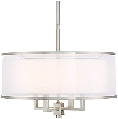 "Possini Euro Glover 21"" Wide Brushed Nickel 4-Light Pendant"