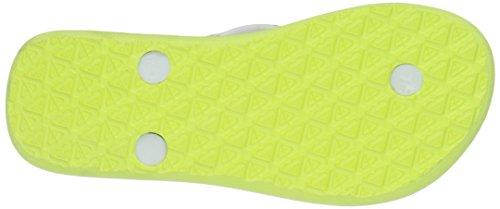 Roxy Rg Pebbles V, Mädchen Zehentrenner Mehrfarbig - Multicolore (White/Aqua)