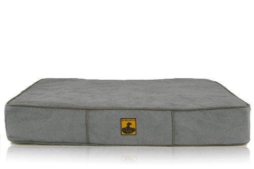 K9 Ballistics Orthopedic Microfiber Bed Blue Gray Micro/Dark