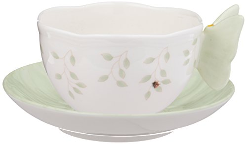 Lenox Butterfly Meadow Fig Garden Cup and Saucer, White