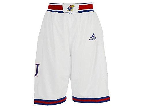 adidas NCAA Youth Kansas Jayhawks Replica Shorts (White, Large)