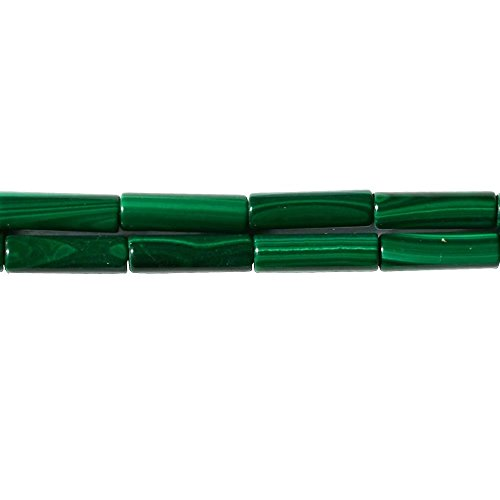 Genuine Green Malachite Gemstone 413mm Thin Tube Cylinder Spacer Beads for Handmade Jewelry Craft Gift Making Supply Sold by One Strand 15 Inch Apx 30 Pcs