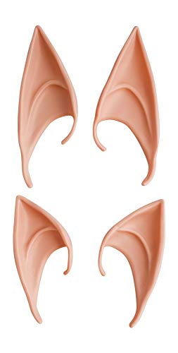 Cosplay Elf, Fairy, Pixie Latex Soft Ears - Pack of 2 Pairs - Long and Short Style Ears for Halloween, Cosplay Dress -