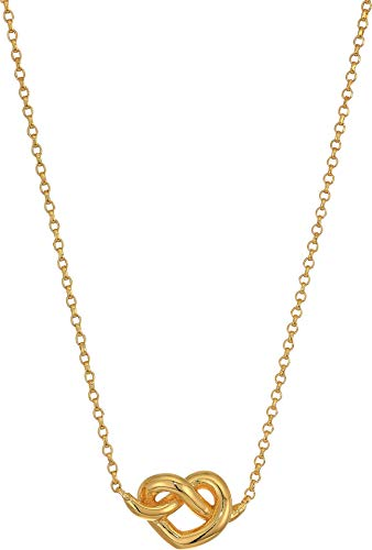 (Kate Spade New York Women's Loves Me Knot Mini Pendant Necklace, Gold, One Size)