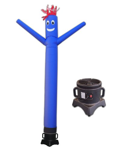 LookOurWay 10ft Air Dancers Inflatable Tube Man Complete Set with 1/3 HP Sky Dancer Blower, 10-Feet, Blue by LookOurWay