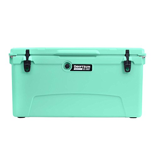 Driftsun 110-Quart Ice Chest, Heavy Duty, High Performance Roto-Molded Commercial Grade Insulated Cooler, Seafoam Green ()