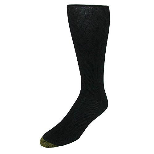 Gold Toe Men's Metropolitan Midcalf Sock, 3 Pack, Black, 10-13 (Shoe Size 6-12.5)