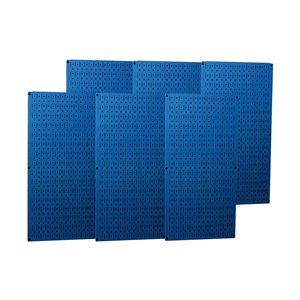 Wall Control - 35-P-3296BU - 32 x 96 20 ga. Steel Pegboard with 1200 lb. Load Rating, Blue