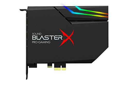 31SsSlAjTLL - Sound BlasterX AE-5 Hi-Resolution PCIe Gaming Sound Card and DAC with RGB Aurora Lighting System (Black)