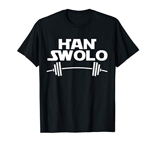 Han Swolo Gym Weightlifting Funny T-shirt, used for sale  Delivered anywhere in USA