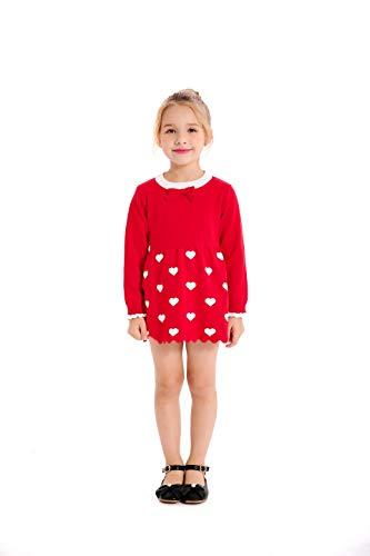 SMILING PINKER Toddler Girl Sweater Fall Winter Dresses Long Sleeve Tunic Pullover