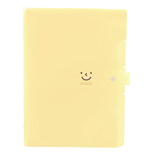 Amazon.com : TOOGOO(R) Kawaii FoldersStationery Carpeta File Folder 5layers Archivadores Rings A4 Document Bag Office Carpetas£¨Beige£ : Office Products