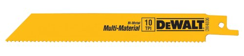 - DEWALT DW4806 6-Inch 10 TPI Straight Back Bi-Metal Reciprocating Saw Blade (5-Pack)