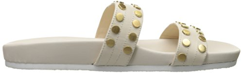 Nine West Zelise sandalia de cuero Slide Off Wht