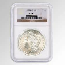 1884-O U.S. Morgan Silver Dollar - MS63 NGC