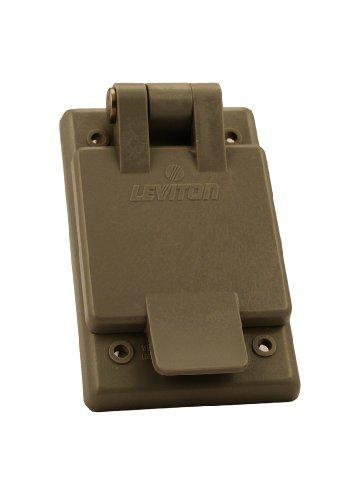 3 Gang Leviton Nylon Decora (Leviton 5278-FWP 15 Amp, 125 Volt, Power Inlet Receptacle, Straight Blade, Industrial Grade, Grounding, Gray)