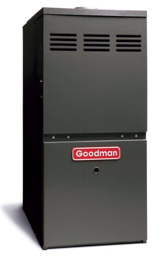 Goodman GMH80604BN Gas Furnace, Two-Stage Burner/Multi-Speed Blower, Upflow/Horizontal 80% AFUE, 2.5-4 Ton - 60,000 (Base Elec Heater)