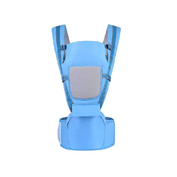 MEDITIVE Baby Carrier with Detachable Hip Seat (3 in 1),Ergonomically Designed (Blue; 0-36 Months)