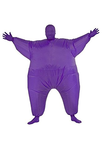 Chub Suit Costume Inflatable Blow Up Chubsuit Bodycon (Suits Purple)